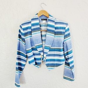 Vintage Margo's Southwest Inspired Cropped Blazer